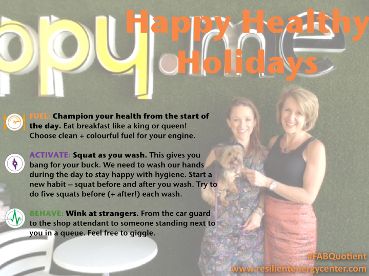 Happy Healthy Holiday Wishes from Celynn and Joni