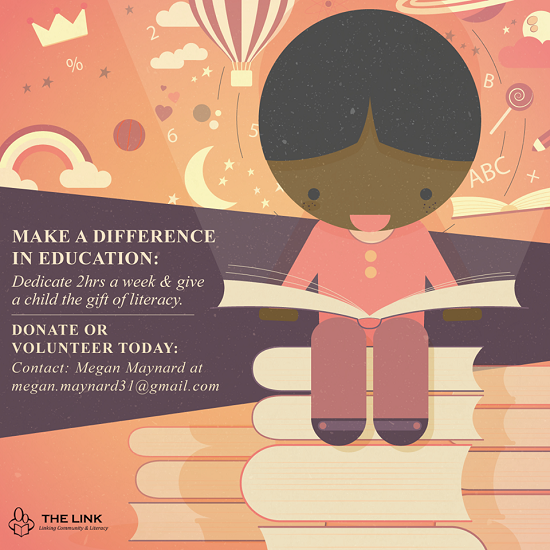 Donate or volunteer at the Link Literacy and numourcy project