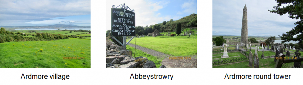 Adrmore village , Abbeystrowry and Adrmore round tower