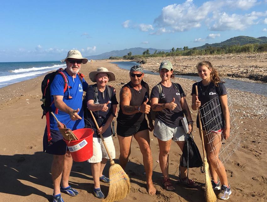 Group of volunteers on the beach