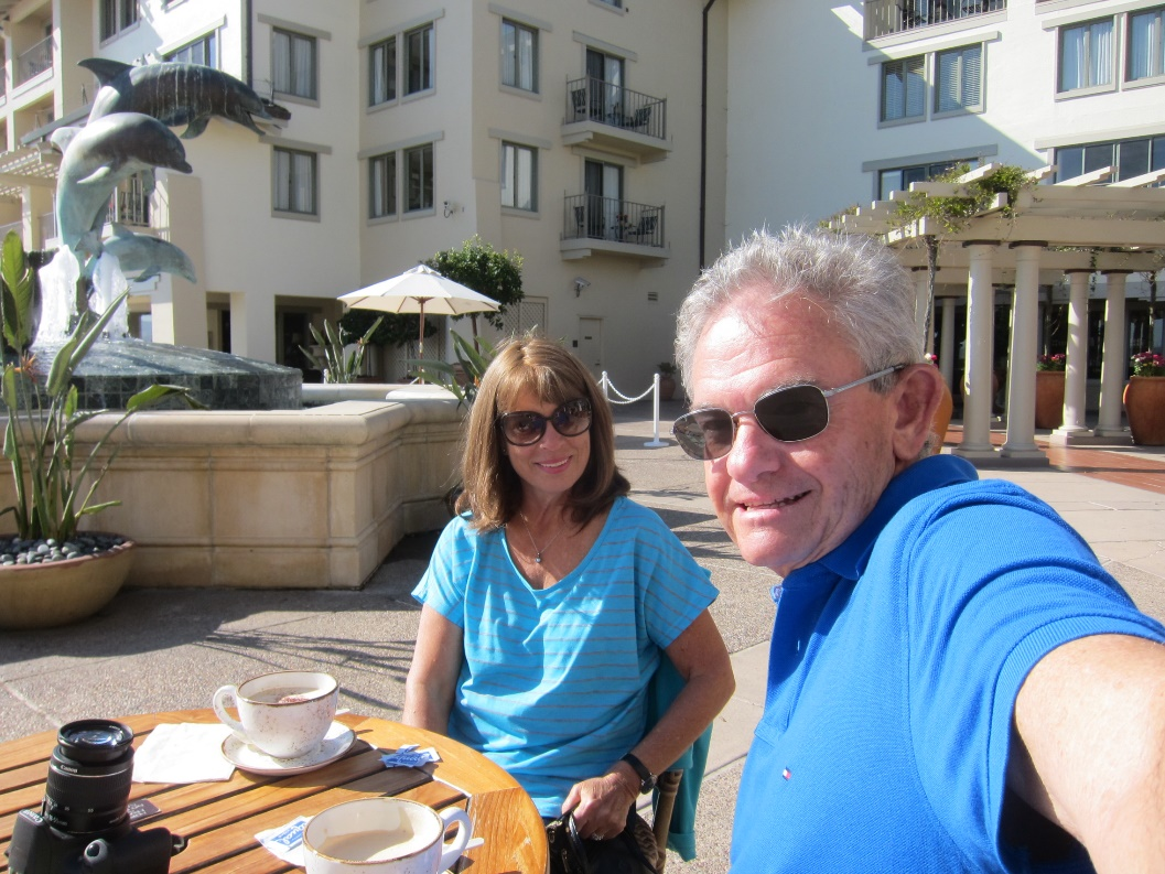 A relaxing cuppa in Monterey