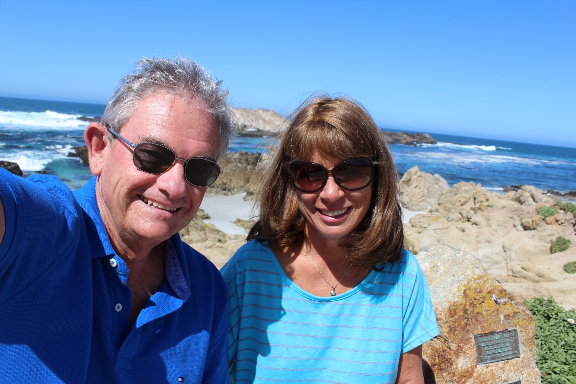 Mike and Cathy on the 17 Mile Drive