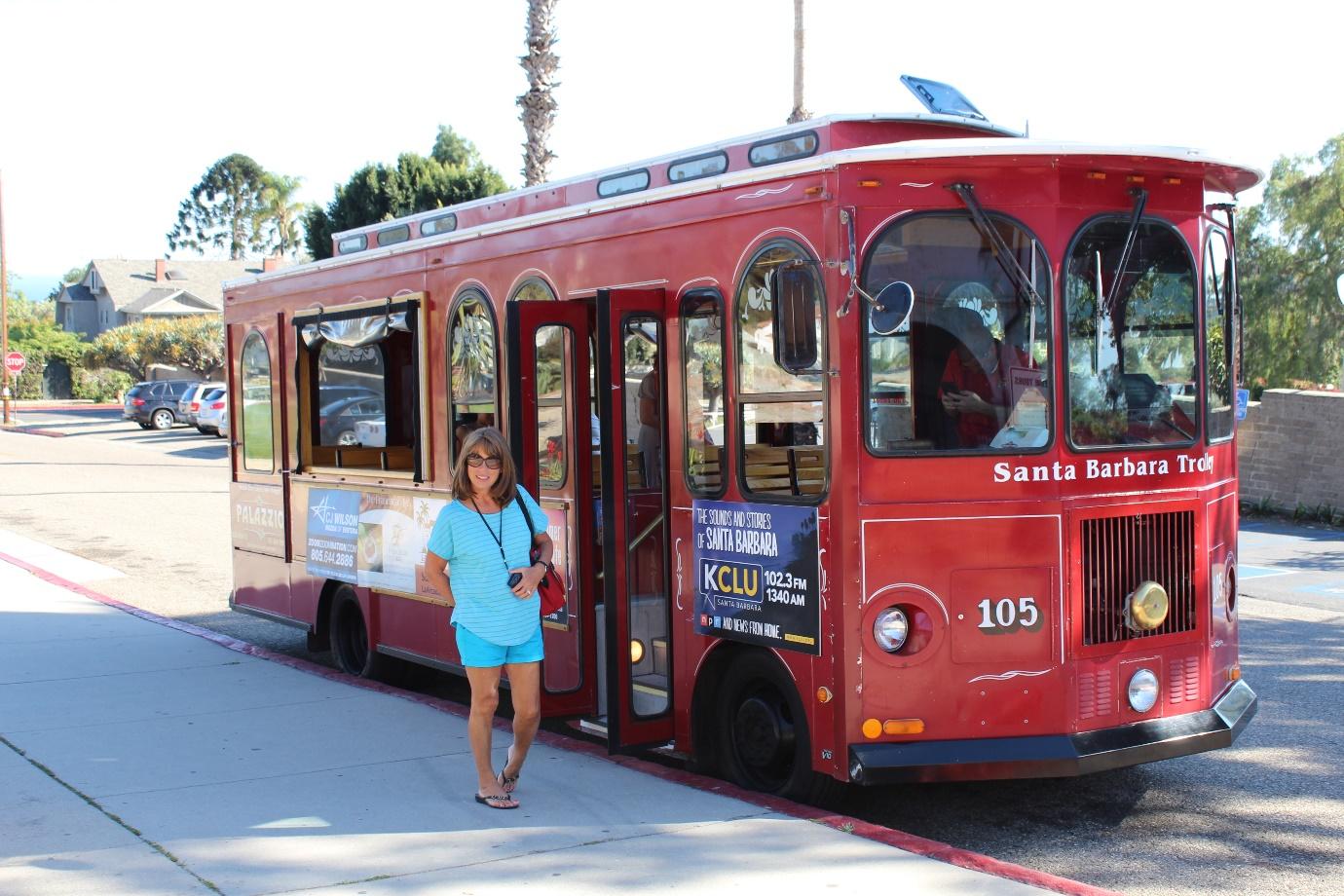 Trolley tour of Santa Barbara