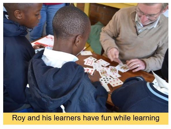 Chartered Wealth Solutions client, Roy Irvine, volunteers for the Link Literacy programme