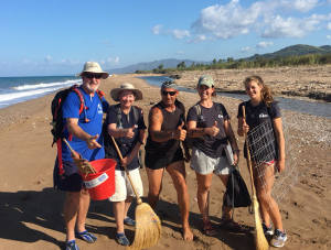Group of volunteers on the beach