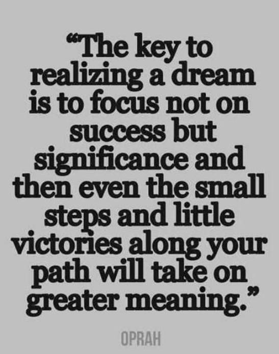 The key to realizing a dream quote