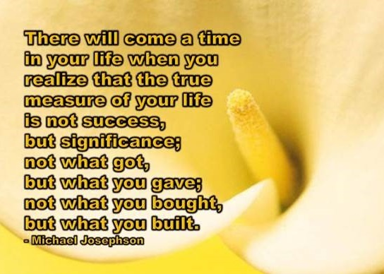 Quote on the true measure of life